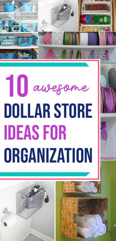 Looking for DIY dollar tree crafts for organizing space? Here are 10 awesome DIY organization dollar store hacks and ideas you can try this weekend for organization lovers. Perfect for your kitchen, bedroom, bathroom, office, pantry and makeup space! You don't want to miss these dollar store organization ideas for home! Dollar Tree Organization, Bedroom Organization Diy, Budget Organization, Organization Store, Organizing Ideas, Dollar Store Hacks, Dollar Stores, Dollar Dollar, Tree Bedroom