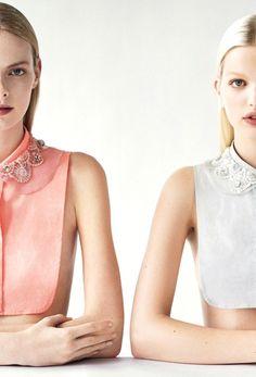 O'2nd F/W 2012 campaign by Tim Walker. Models: Elza Luijendijk and Daphne Groeneveld.