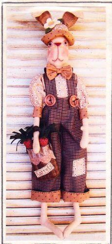 PATTERN - Crawford -  fun male rabbit cloth doll PATTERN  - Annie Smith