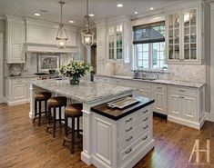 lovely kitchen design ideas and color scheme plus flooring and cabinets along with light fixtures - Kitchen Design Ideas Pictures