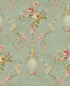 A beautiful arrangement of tapestry-styled damask, faux, floral and stripe wallpaper from Seabrook Designs Tapestry Wallpaper, Go Wallpaper, Damask Wallpaper, Vintage Paper, Vintage Floral, Victorian Wallpaper, Shabby Chic, Traditional Wallpaper, Decoupage Paper
