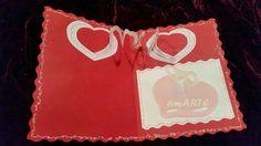 Tarjeta de San Valentin interactiva. Para día del amor y la amistad.