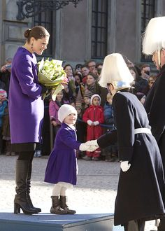 Victoria's Nameday 2015You get to shake hands with so many cool-hatted people when you are the Princess of Sweden. It's not fair.