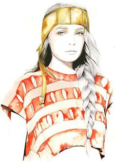 that girl fashion blog: Some Fashion Illustration by Caroline Andrieu
