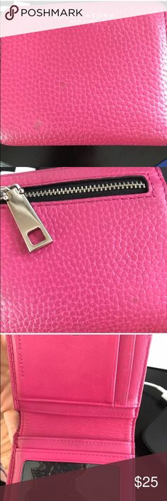 Pink Marc Jacobs Wallet Has a few signs of wear. only used once since purchase from a previous posh seller. Marc Jacobs Bags Wallets