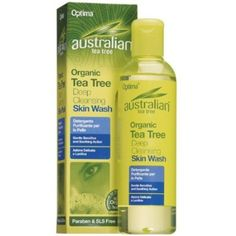 Optima Australian Tea Tree Deep Cleansing Skin Wash A great seller. Australian Tea Tree, Australian Organic, Skin Cleanse, Face And Body, Washi, Whitening, Cleanser, Body Care, Conditioner