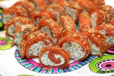 Smoked salmon wasabi rolls -- this might help curb my pregnant sushi cravings.