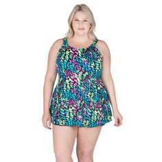 7ecc276f15 Seascape Plus Size Swimdress. This plus size swimdress features extra wide  straps and a fully. Swimsuits ...