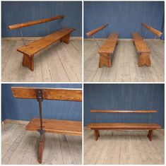 We have two of these lovely Welsh chapel benches in stock, which will each easily seat three people. The wood has developed a lovely colour and patina through years of use.  Perfect for use as seating around your dining table, they are far more comfortable than they look!  #cheshire #reclamation #salvage #antiques #collectables #vintage #retro #home #garden #design #interiordesign #furniture #antique #design #reclaimed #rustic #industrial