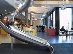 I want a slide in the library!!!