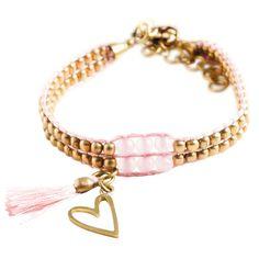 Shine goud rozenkwarts armband - Shop