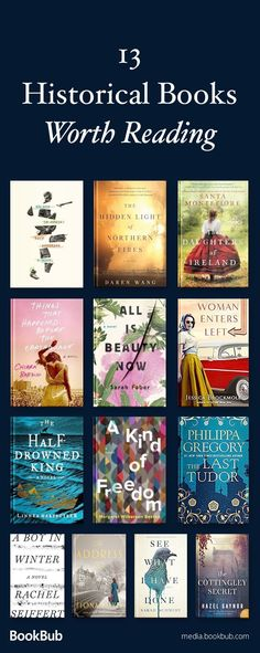 13 historical fiction books to read this year. If you love history books, check out these great novels, including some WWII fiction and books based on true stories. Including a new release from Philippa Gregory. Books And Tea, Book Club Books, Book Lists, New Books, Good Books, Reading Lists, Reading Books, Fall Books, Summer Books