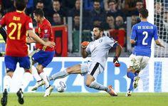 Un gol a favor destempla a España frente a Italia