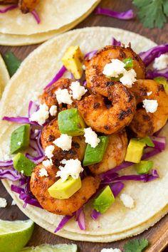 Chipotle Shrimp Tacos with Cilantro-Lime Crema Really nice #hashtag