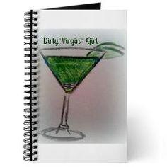 Dirty Virgin Green Appletini Girl Journal $14.49