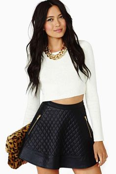 Nasty Gal Let It Be Crop Sweater - Ivory