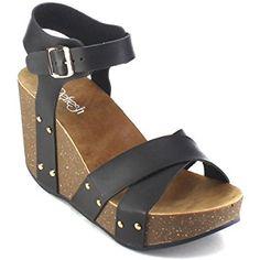 Refresh MARA-05 Womens Ankle Strap Platform