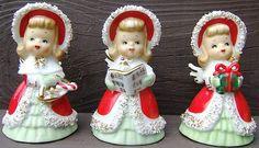 Look what I found on @eBay! http://r.ebay.com/BTC7xI Vintage LEFTON Ceramic CHRISTMAS ANGEL BELLS Japan GOLD SPAGHETTI TRIM 3 ANGELS