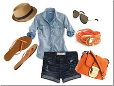Favorite outfit. This is the perfect Spring Break outfit. Jorts are my fave.