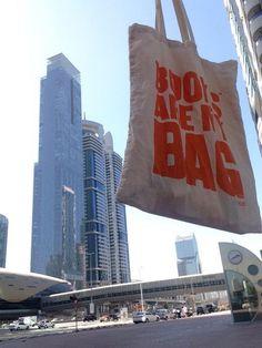 Book shopping in Dubai.
