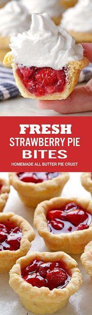 Fresh Strawberry Pie Bites #recipes #food #easyrecipe #healthy #easy #cake #cookies #dessert #vegan #ideas #comfortfood #dinnerrecipes #homemade #easter #brunch