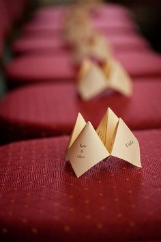 fortune teller wedding programs! YES!- I wouldn't do this but soooo cute! and probably a lot of work