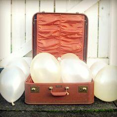 vintage case & balloons