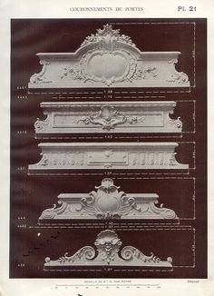 icu ~ staff in 2019 Neoclassical Architecture, Baroque Architecture, Architecture Details, Revival Architecture, Cornice Design, Carved Wood Wall Art, Classic House Design, Plafond Design, Decorative Plaster