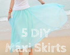 Clo By Clau!: 5 DIYs: Maxi Skirts - 5 Tutoriales ...red a line maxi