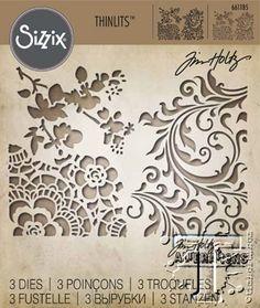 Sizzix Thinlits 3PK Mixed Media 2 by Tim Holtz 661185