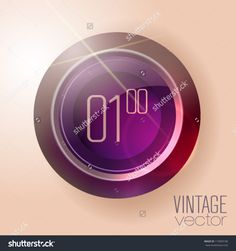 Retro-Futuristic Digital Clock Design Useful For Banners And ...