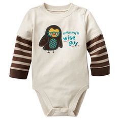 Jumping Beans Owl Graphic Mock-Layer Bodysuit - Baby
