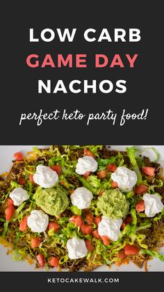 Get your party on with these low carb nachos! Perfect for tailgating or game day! #lowcarb #keto #nachos #snacks #tailgating #glutenfree #grainfree