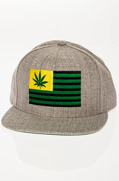 Weed Flag Hat in Grey a2e21d242347