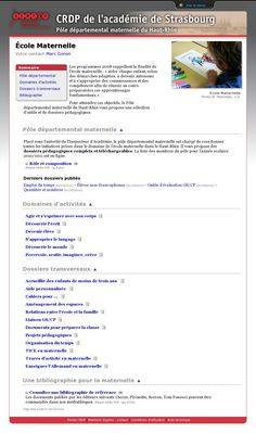 ACCUEIL DES MOINS DE TROIS ANS - The website 'http://www.crdp-strasbourg.fr/maternelle/accueil/index.php' courtesy of @Pinstamatic (http://pinstamatic.com)