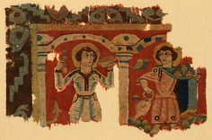 Fragment of a Wall Hanging with Figures in Elaborate Dress Date: 4th–6th century Geography: Made in Egypt Medium: Tapestry weave in polychrome wool