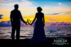 Sanibel Island wedding photo with & sign... obviously need to change this up at the winery