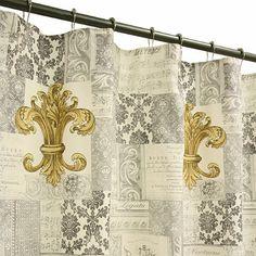 Fleur De Lis 70 Inch X 72 Inch Shower Curtain   BedBathandBeyond.com