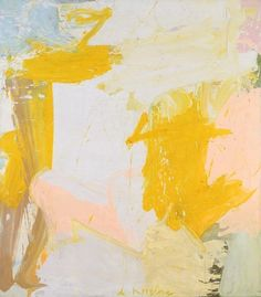 Willem de Kooning - Rosy-Fingered Dawn at Louse Point, 1963 / The title Rosy-Fingered Dawn at Louse Point refers to one of Willem de Kooning's favourite places in Long Island, New York. During his period in Long Island De Kooning rode his bike daily to Louse Point where he observed the water.