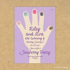 Oh my Jam these are too cute! A Jamberry birthday party seems like a great idea. Get your invites from this lady and I can help with your jams!! http://jamswithterra.jamberrynails.net