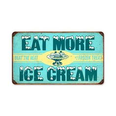 Ice Cream Vintage Metal Sign- Ice Cream Vintage Metal Sign Ice Cream Vintage Metal Sign From the Retro Planet licensed collection, this Ice Cream vintage metal sign measures 14 inches by 8 inches and weighs in at 1 lb(s). This vintage metal sign is h
