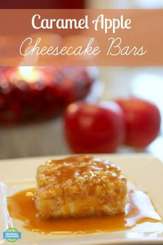 Caramel Apple Cheesecake Bars - oh my goodness these are SO GOOD! Perfect for serving up at Thanksgiving or Christmas!