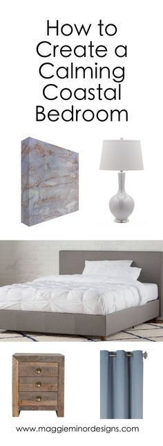 How to Create a Calming Modern Coastal Bedroom | driftwood furniture | upholstered bed | complete room design | modern decorating ideas | white table lamp | blue red and gold modern abstract canvas print artwork | modern ceramic wall sculpture | blue bedroom design | residential interior design ideas | beach house home decor | neutral bedroom with colorful highlights | fine art | step by step decorating #coastalbedroomsfurniture #coastalbedroomsblue #coastalbedroomsideas…