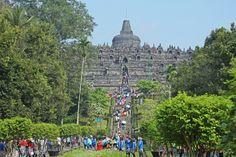 Filevorming bij de Borobudur