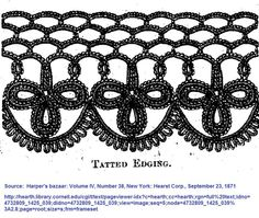 Pattern source: Harper's bazaar: Volume IV, Number 38, New York: Hearst Corp., September 23, 1871