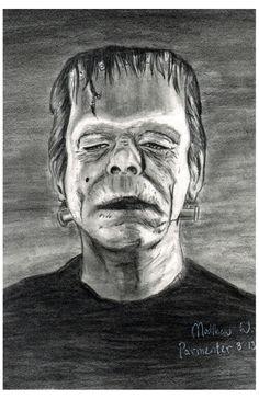 """Frankenstein Monster Pencils 9"""" x 12"""""""