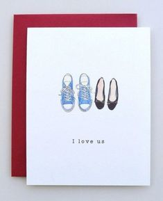 Valentine's Day Card I Love Us Shoes valentine by AvEHdesigns
