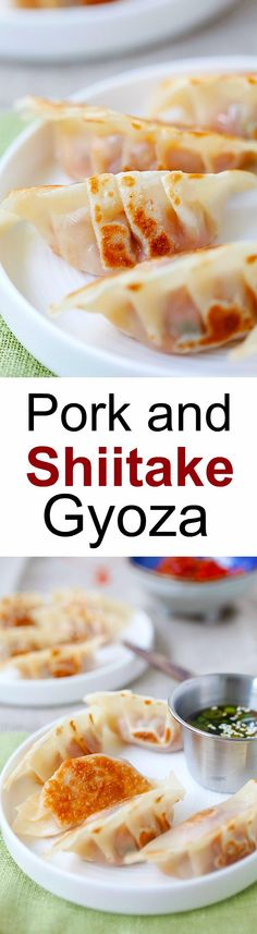 Pork and Shiitake Gyoza – healthy and delicious Japanese dumplings that you can make at home with this super easy and fool proof recipe | rasamalaysia.com