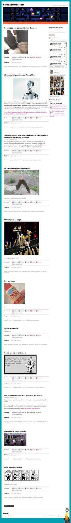 The website 'nomeaburras.com'