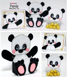 Panda del vientre trío de la caja: pincha para ampliar